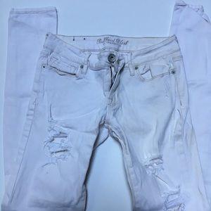 Women's bullhead black white jeans-size 3